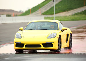 Ellen DeGeneres Feels the Need for Speed at Porsche Experience Center