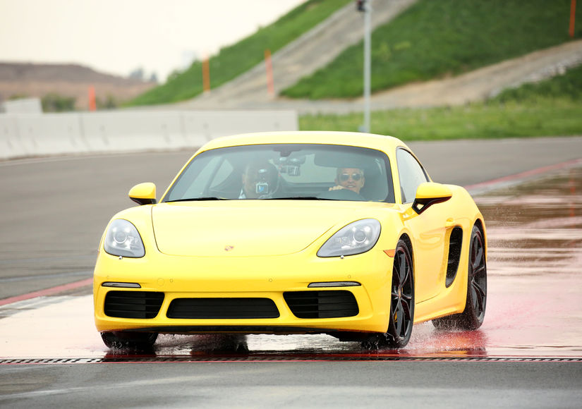 Ellen DeGeneres Feels the Need for Speed at Porsche Experience Center