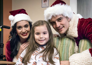 Katy Perry & Orlando Bloom Dress as Santa & Mrs. Claus for Children's…