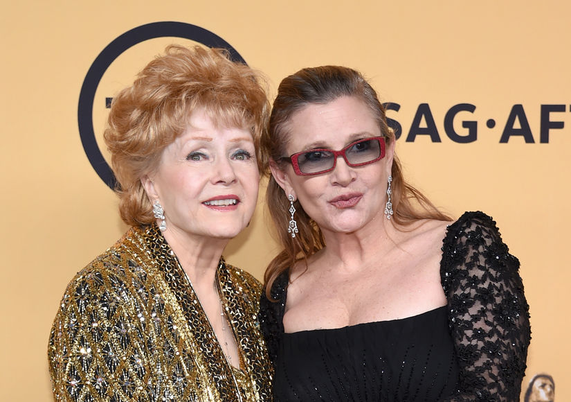 Debbie Reynolds and Carrie Fisher, 2016