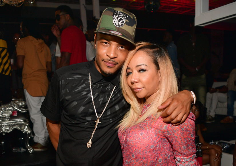 T.I & Wife Tiny Split