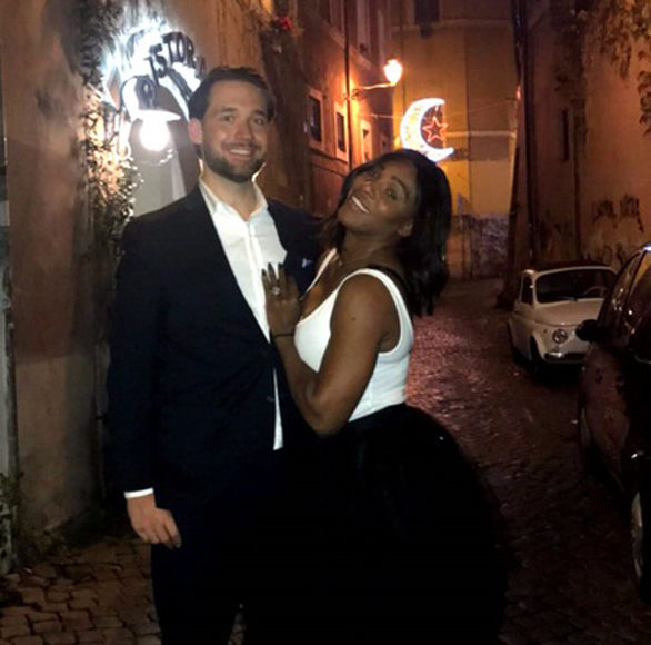Serena Williams Flashes Engagement Ring on Date Night with Alexis Ohanian