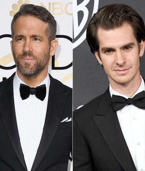Watch! Ryan Reynolds & Andrew Garfield Kiss at the Golden Globes
