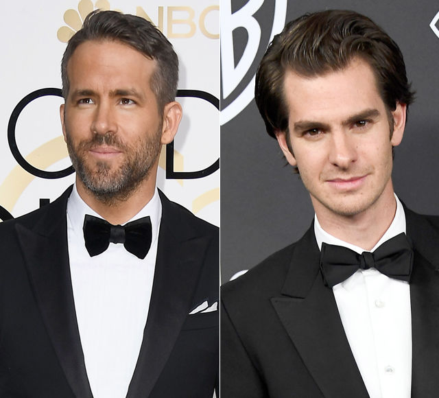 Watch! Ryan Reynolds & Andrew Garfield Kiss at the Golden Globes