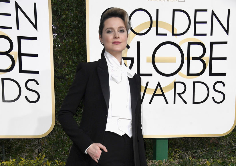 Evan Rachel Wood's Stand-Out Golden Globe Fashion Choice