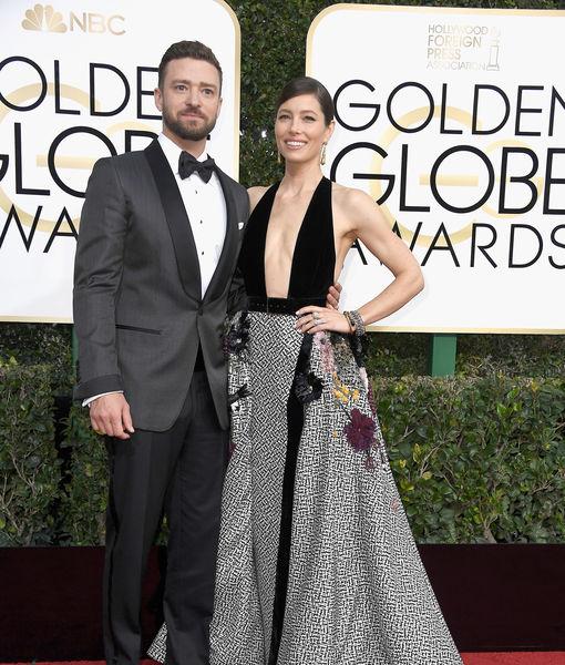 What Justin Timberlake & Jessica Biel Wore on the Globes Carpet