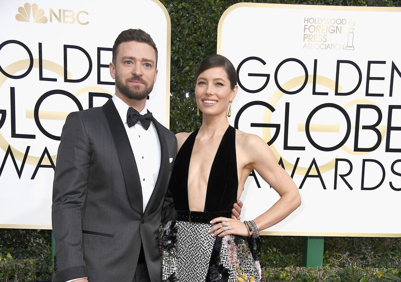 What Justin Timberlake & Jessica Biel Wore on the Globes Carpet