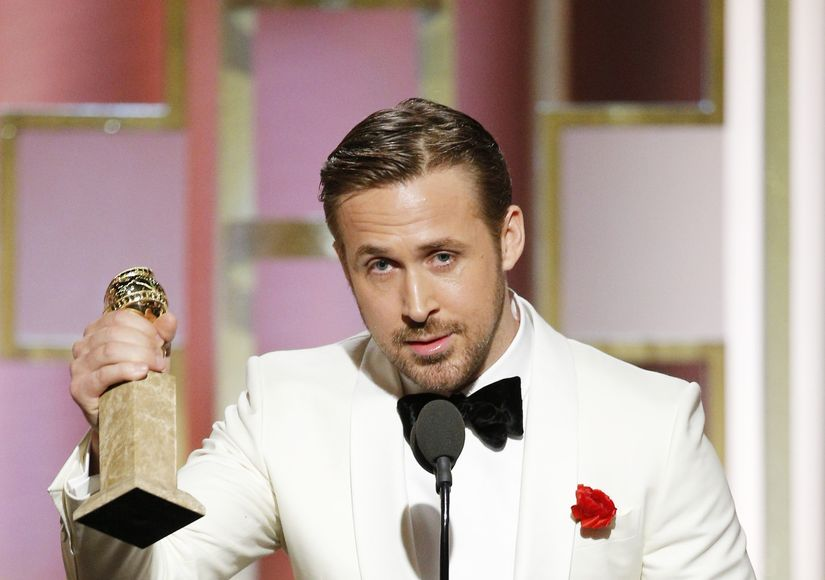 Watch Ryan Gosling's Touching Golden Globes Speech About Eva Mendes