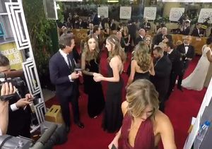 Time Lapse: 'Extra' on the Golden Globes Red Carpet