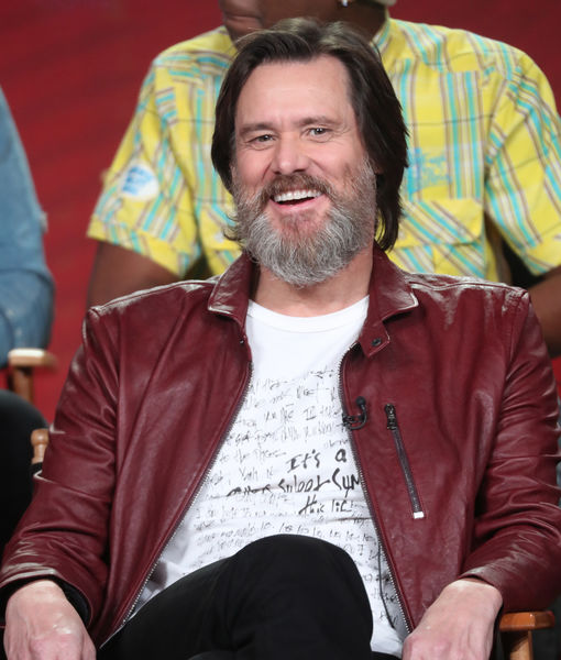 Jim Carrey Gets Fun & Flirty While Promoting 'I'm Dying Up Here'