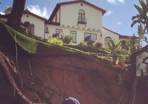 Mario Lopez's Los Angeles Home Faces Rain Catastrophe