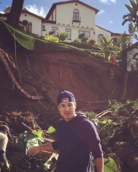 Mario Lopez's Los Angeles Home Faces Rain Catastrophe