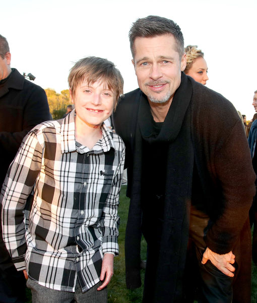 Brad Pitt, Still Easing Back into Public Life, Appears at EB Benefit