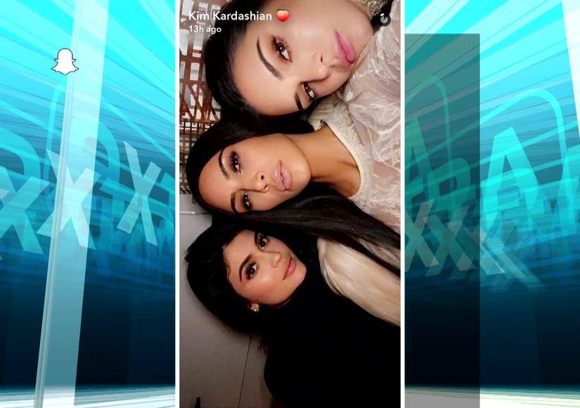Kim Kardashian Snapchats Givenchy Dress
