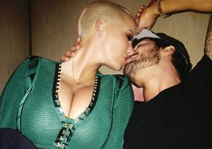 It's Getting Steamy! Amber Rose & Val Chmerkovskiy Share Passionate Kiss