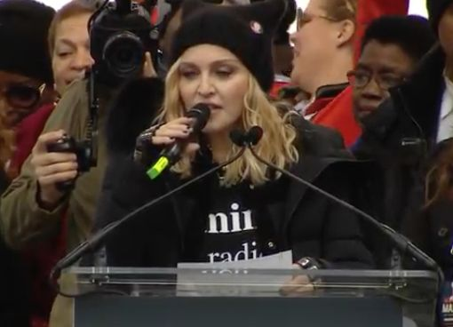 Madonna Sings at Women's March on D.C., Curses Out President Trump