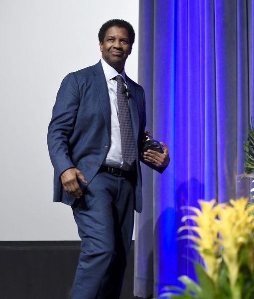 Watch! Fan Crashes Denzel Washington's Interview