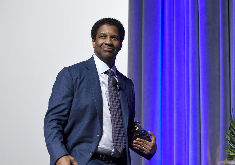 Watch! Fan Crashes Denzel Washington's Interview