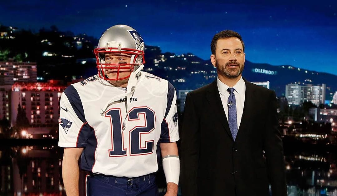 b1843bd55e Video! Matt Damon Crashes  Jimmy Kimmel Live!  as Tom Brady