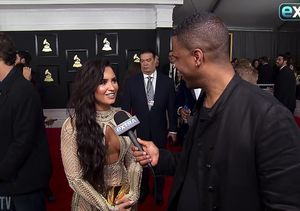 Demi Lovato Reveals Valentine's Day Plans at Grammy Awards