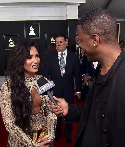 Demi Lovato Reveals Valentine's Day Plans at Grammy Awards