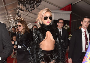 Lady Gaga Flaunts Underboob at Grammys