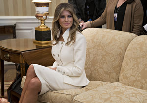 Who Is FLOTUS Melania Trump Wearing at First White House Event?