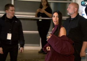 No Bra, No Problem for Kim Kardashian at Yeezy Fashion Show