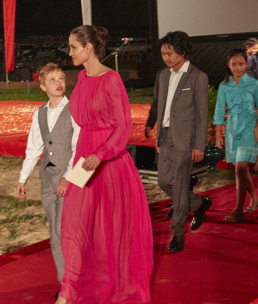 Angelina Jolie & Kids Dazzle at Cambodian Film Premiere