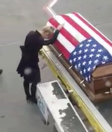 Video: Military Widow's Touching Moment of Grief Goes Viral