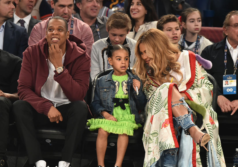 Beyoncé, Jay Z & Blue Ivy's Family Day at NBA All-Star Game