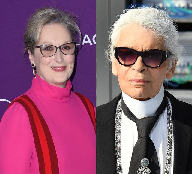 Meryl Streep & Karl Lagerfield's Fashion Spat Before the Oscars