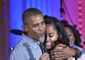 Barack & Malia Obama Do Broadway on Whirlwind NYC Trip