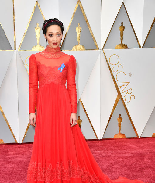 Why Stars Wore a Blue Ribbon on the Oscars Red Carpet