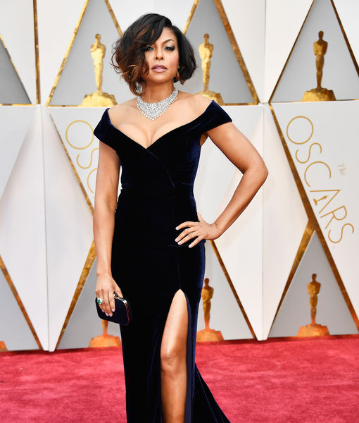 Taraji P. Henson Shows Off Major Cleavage on Oscars 2017 Red Carpet