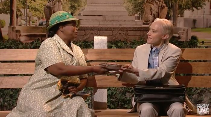 Kate McKinnon Plays Jeff Sessions as Forrest Gump with 'Help' from Octavia Spencer