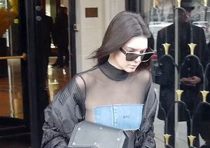 Kendall Jenner's Barely-There Denim Ensemble Is a Must-See