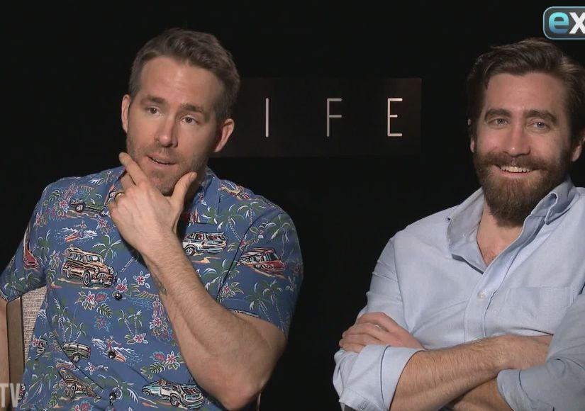 LOL! Ryan Reynolds & Jake Gyllenhaal Go Off the Rails in New 'Extra'…