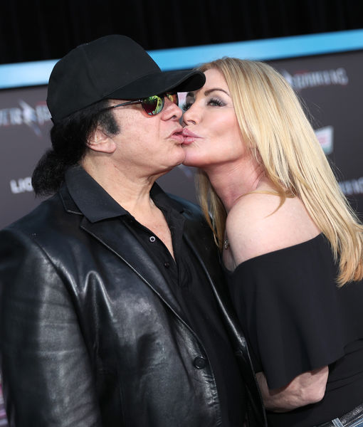 Gene Simmons and Shannon Tweed Pack on PDA at Premiere