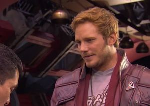 See Chris Pratt Give Guillermo Acting Advice on the Set of 'Guardians 2'