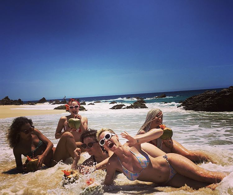Fuhrman and Kaitlyn Dever in Bikinis - Instagram