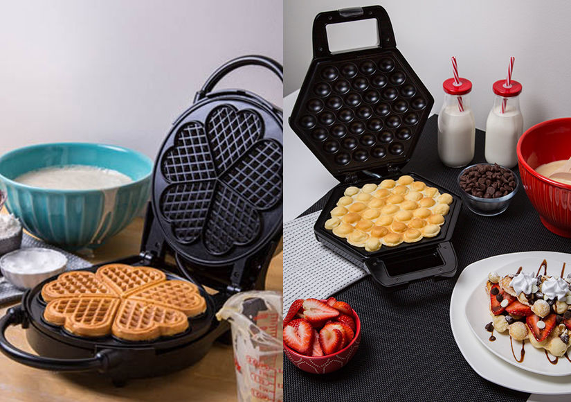 Win It! A CucinaPro Heart Waffler and Bubble Waffle Maker