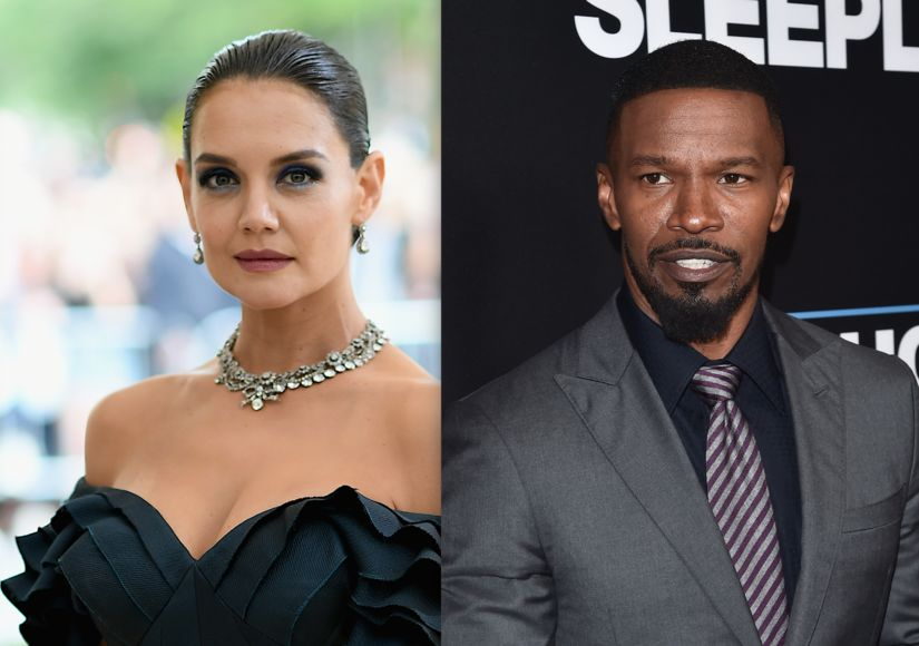 Jamie Foxx and Katie Holmes rendezvous in Paris