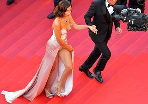Bella Hadid Suffers Wardrobe Malfunction at Cannes Opening Gala 2017