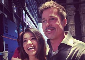 How Gina Rodriguez Almost Injured Herself Before Fangirl Moment with Brad Pitt
