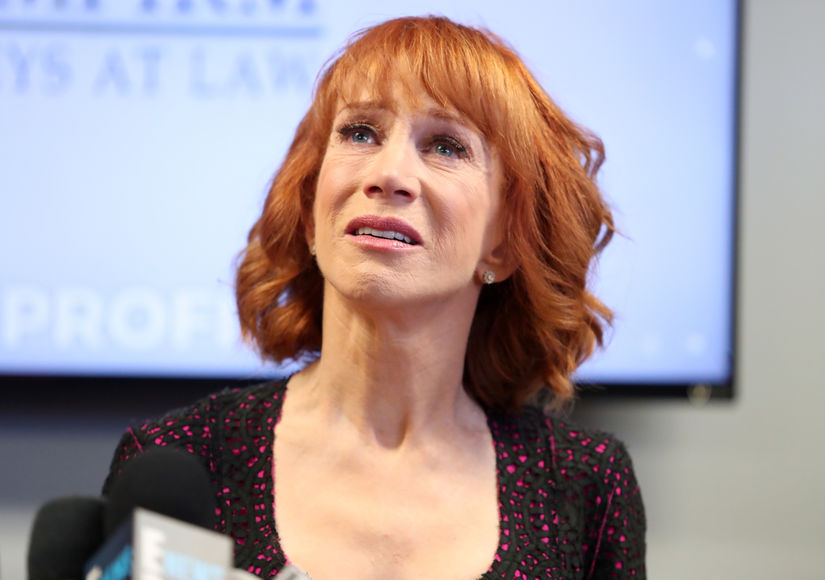 Kathy Griffin Hits Back at Melania Trump, Tears Up Over Anderson Cooper at Press Conference