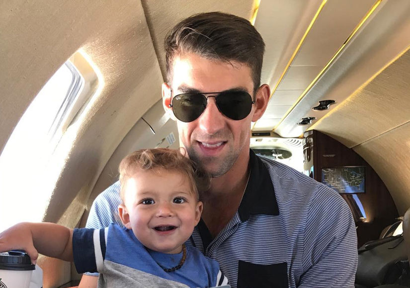 Pics! Michael Phelps' Son Boomer Is So Big and So Adorable