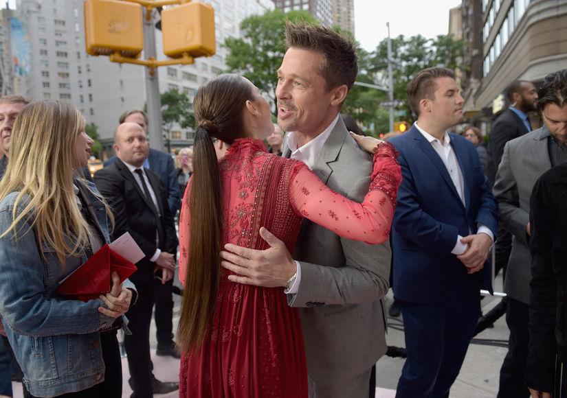 Brad Pitt's Hug Fest at 'Okja' Premiere, Plus: Did He Call Jennifer Aniston to Apologize?