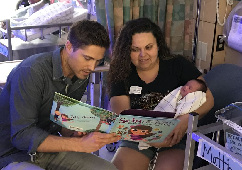 Eric Winter Stops by L.A. Hospital for Special Story Time