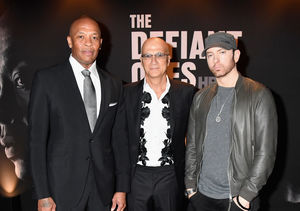 Eminem Unrecognizable with Facial Hair in Rare Public Appearance